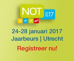 Registreer nu gratis voor de NOT 2017